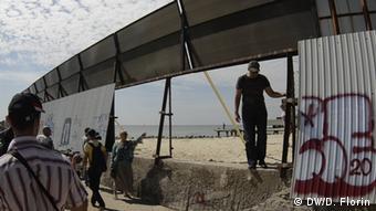 Снос ограждений, закрывающих доступ к одному из одесских пляжей