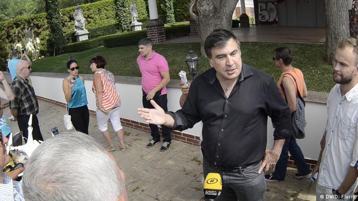 Михаил Саакашвили общается с одесситами
