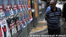 Griechenland Wahlen Wahlplakate in Athen