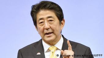 Japan Premierminister Shinzo Abe in Tokio