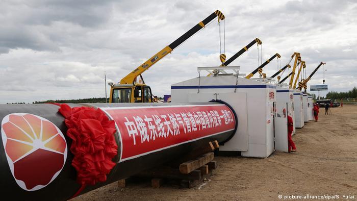 Gaspipeline von Russland nach China