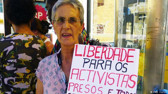 Portugal Demonstration Freiheit Politische Gefangene in Luanda (DW/J. Carlos)