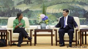 Xi Jinping und Susan Rice in Peking