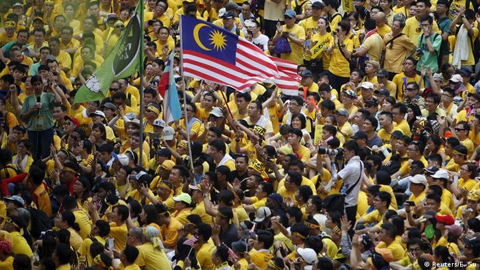 Proteste gegen die Regierung in Kuala Lumpur Malaysia