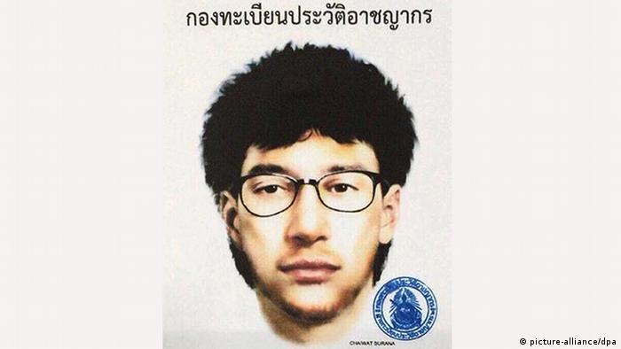 Фоторобот подозреваемого в теракте в Бангкоке
