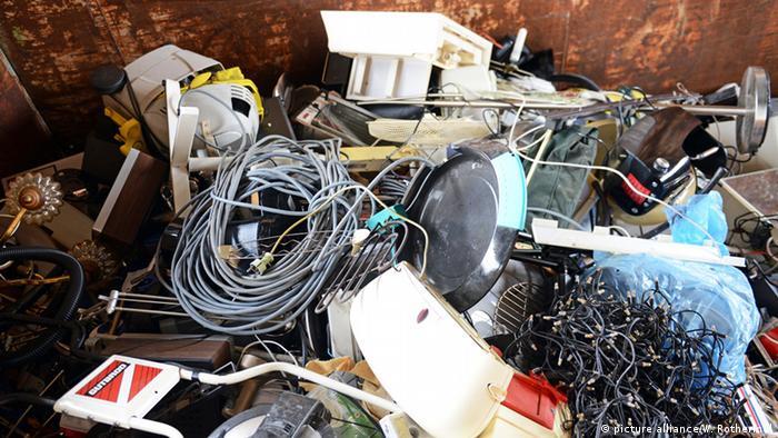 Deutschland Elektroschrott in Singen