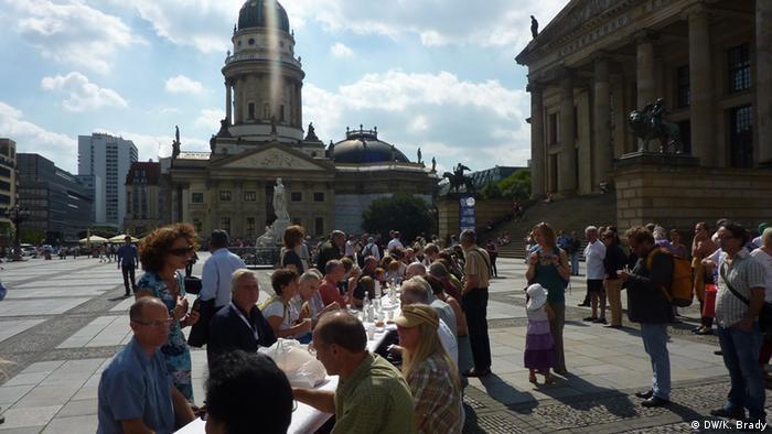 Open-air lunch on Gendarmenmarkt
