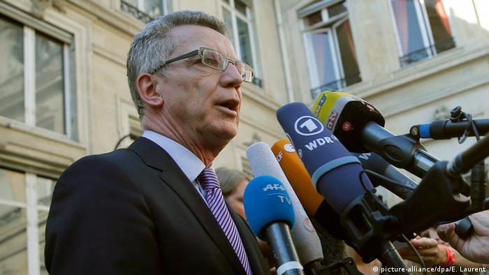 Ministrul german de interne, Thomas de Maiziere, la Paris