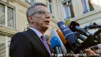 Frankreich Innenminister Thomas de Maiziere in Paris