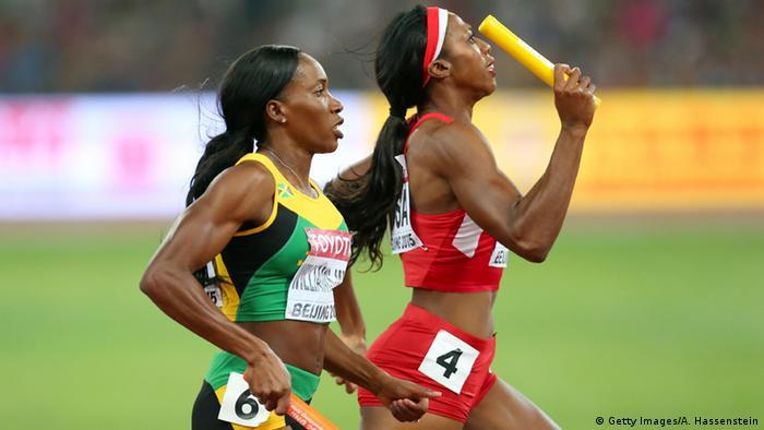 China Leichtathletik WM in Peking - Frauen 4x400 Staffellauf (Getty Images/A. Hassenstein)