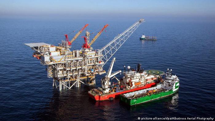 Israel's Tamar offshore gas field (picture-alliance/dpa/Albatross Aerial Photgraphy)