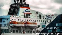 Frankreich Protestaktion von französischen Seeleuten in Calais (Symbolbild)
