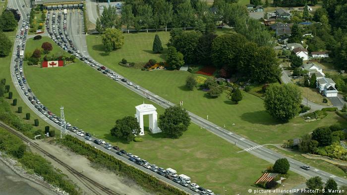 USA Kanada Grenzübergang bei Blaine