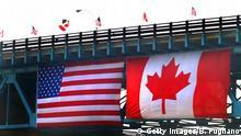 USA Kanada Grenzübergang Ambassador Bridge in Detroit