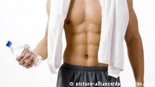 Symbolbild Fitness Muskeln Six Pack Sport