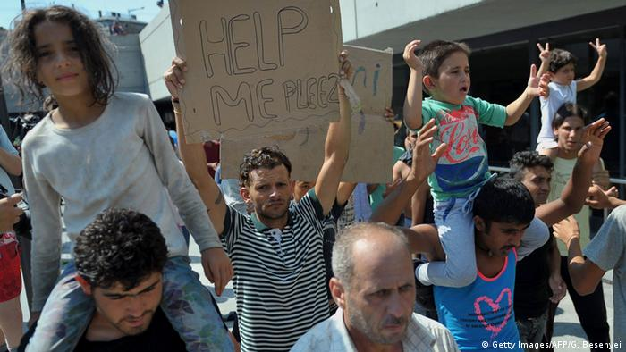 Ungarn Flüchtlinge am Bahnhof in Budapest