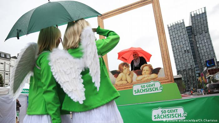 Kampagne Tourismus so geht sächsisch Werbung Tanzende Türme Reeperbahn (picture-alliance/dpa/Ch.Charisius)