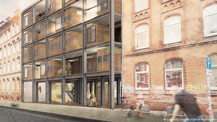 Willkommens-Architektur für Flüchtlinge: Wohnidee Baulücken schließen - Fill the gap