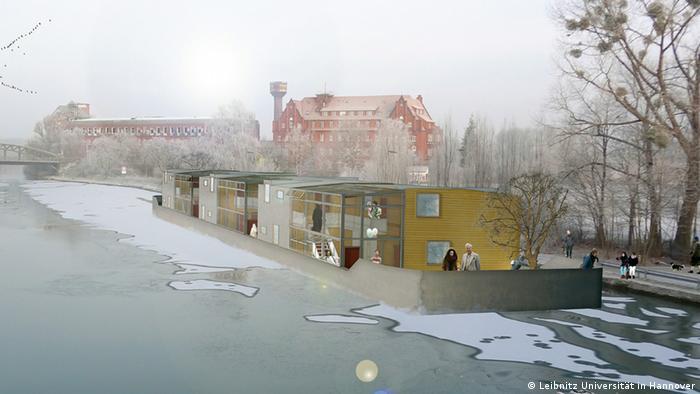 Willkommens-Architektur für Flüchtlinge: Wohnidee Floating Houses - Wohnen auf dem Wasser