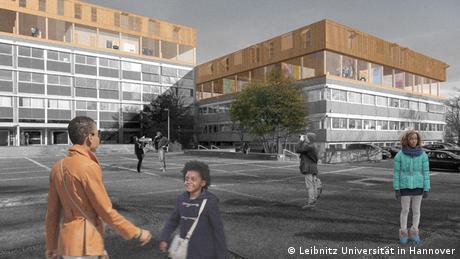 Willkommens-Architektur für Flüchtlinge: Wohnidee Darauf Bauen - Für Auf Miteinander