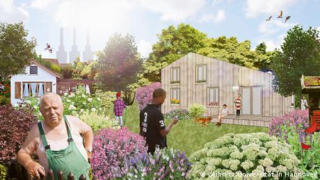 Willkommens-Architektur für Flüchtlinge: Wohnidee - mein Schrebergarten