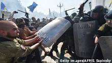 Ukraine Kiew Auseinandersetzungen an der Werchowna Rada