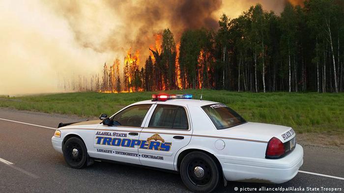 Лісова пожежа на Алясці