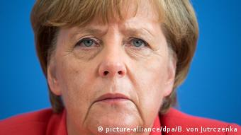 Ангела Меркель на пресс-конференции 31 августа