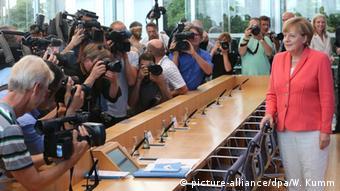 Deutschland Berlin Jahrespressekonferenz Bundeskanzlerin Merkel
