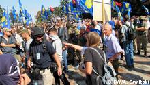 Proteste vor dem Parlament in Kiew
