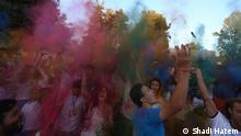 The Story about : color war festival in Palestine Those photos taken place in In Ramallah, Palestine. Thursday 27.08.2015 Copy right : shadi hatem