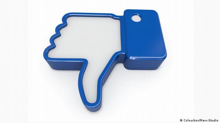 Daumen runter Facebook
