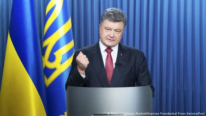 TV-Ansprache des ukrainischen Präsidenten Poroschenko