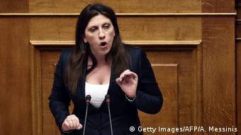 Ehemalige griechische Parlamentssprecherin Zoe Konstantopoulou
