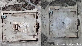 Satellite pictures of destruction of Baal-tempel, Copyright: dpa - Bildfunk
