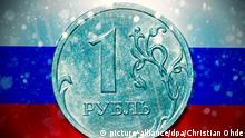 Russland Rubel Symbolbild Sanktionen Konsequenzen