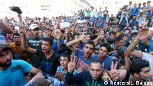 Ungarn schließt den Ost-Bahnhof in Budapest Protest der Flüchtlinge