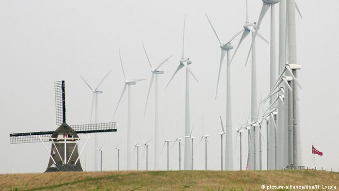 Один из ветропарков в Нидерландах
