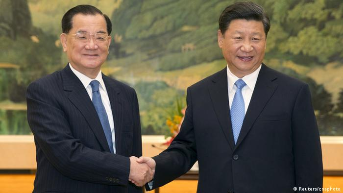 China Lien Chan und Xi Jinping Treffen in Peking