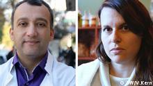 Bildkombo Michalis Charalampidis (links) Nadia Kalogeropoulous (rechts)