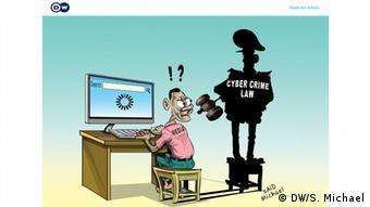 Cartoon Tansania Mediengesetz