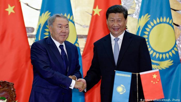 Нурсултан Назарбаев и Си Цзиньпин