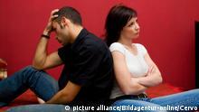 Ein Paar erlebt eine Beziehungskrise.