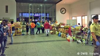 Deutschland Flüchtlinge in München Hauptbahnhof