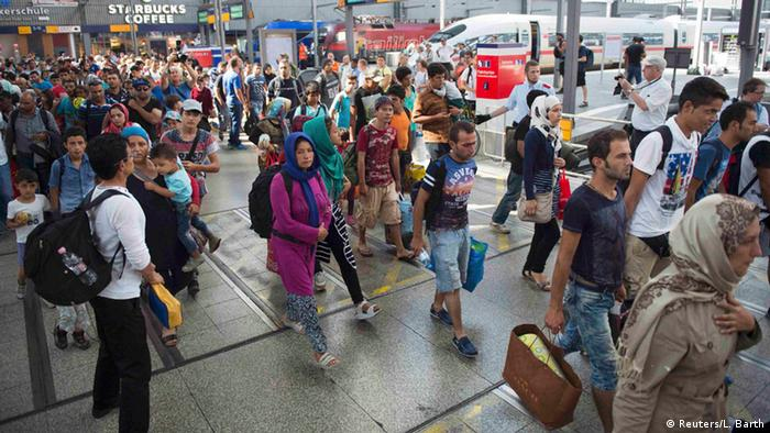 Deutschland Flüchtlinge München Hauptbahnhof