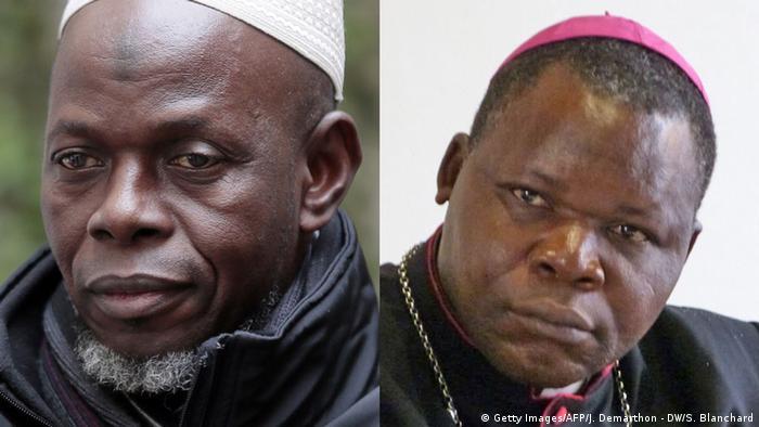 Bildkombo Aachener Imam Oumar Kobine Layama na Askofu Dieudonné Nzapalainga.