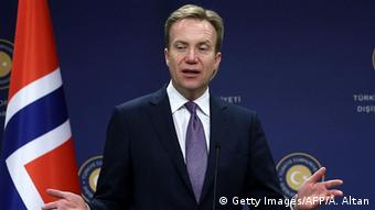 Norwegen Aussenminister Borge Brende (Getty Images/AFP/A. Altan)