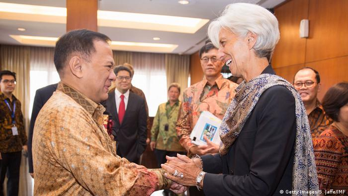 Christine Lagarde in Indonesien mit Agus Martowardojo