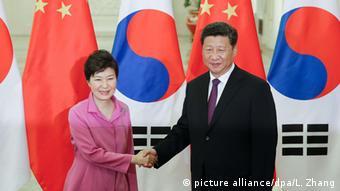 Südkorea China Park Geun-hye und Xi Jinping