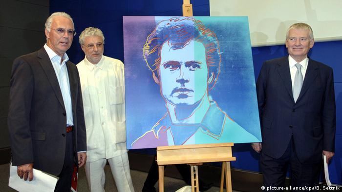 Bildergalerie Franz Beckenbauer 70. Geburtstag - Gemälde Warhol